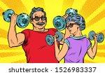 an elderly man and woman... | Shutterstock .eps vector #1526983337