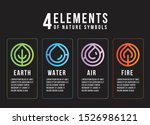 4 elements of nature symbols ... | Shutterstock .eps vector #1526986121
