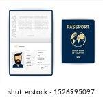 realistic vector template open... | Shutterstock .eps vector #1526995097