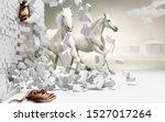 3d Illustration Of White Horse...