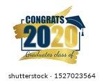 class of 2020. hand drawn brush ... | Shutterstock .eps vector #1527023564