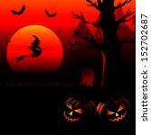 spooky halloween background... | Shutterstock .eps vector #152702687