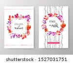autumn invitation with... | Shutterstock . vector #1527031751