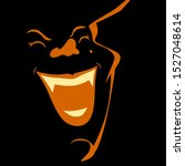 spooky halloween witch portrait ... | Shutterstock .eps vector #1527048614