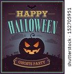 Happy Halloween Typographic...