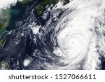 Small photo of Typhoon Hagibis heading towards Japan in October 2019 - Elements of this image furnished by NASA