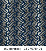gold wavy lines on blue... | Shutterstock .eps vector #1527078401