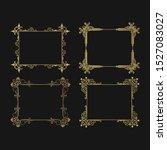 hand drawn golden vignette... | Shutterstock .eps vector #1527083027