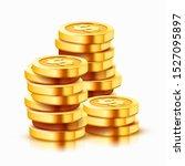 Growing Stack Of Golden Dollar...