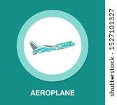 aeroplane symbol isolated ... | Shutterstock .eps vector #1527101327