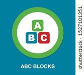 abc blocks flat icon. alphabet...   Shutterstock .eps vector #1527101351