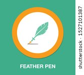 feather pen quill icon  vector... | Shutterstock .eps vector #1527101387