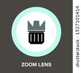 zoom lens - Autofocus icon - digital photo camera illustration, vector image concept