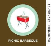 vector bbq grill illustration   ...   Shutterstock .eps vector #1527101471