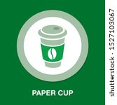 vector coffee on paper cup... | Shutterstock .eps vector #1527103067