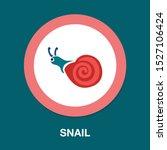 cheerful little snail isolated... | Shutterstock .eps vector #1527106424