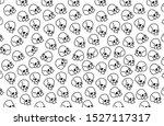 pattern with skulls. background ... | Shutterstock .eps vector #1527117317