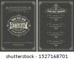 menu design template with... | Shutterstock .eps vector #1527168701