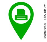 printer and location pin on... | Shutterstock .eps vector #1527185294