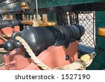 Close View Of  A Cannon In The...