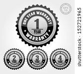vector   black silver warranty... | Shutterstock .eps vector #152721965