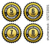 black gold warranty badge and... | Shutterstock . vector #152722031