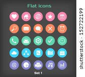 vector round flat icon set  1...