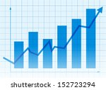business graph and chart  | Shutterstock .eps vector #152723294