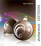 christmas background. vector... | Shutterstock .eps vector #152725241