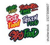 favourite  exotic  tasty ... | Shutterstock .eps vector #1527308807