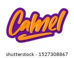 Camel Cartoon Lettering Text....