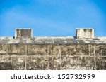 old wall of building against... | Shutterstock . vector #152732999