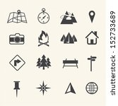 map icons set  navigation | Shutterstock .eps vector #152733689