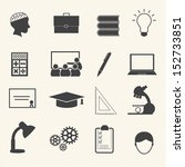 education icons set | Shutterstock .eps vector #152733851