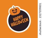 happy halloween sticker with...   Shutterstock .eps vector #1527359831