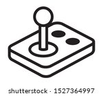 arcade video game joystick... | Shutterstock .eps vector #1527364997