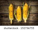 Grilled Corn Cobs On Vintage...