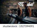 a handsome young men exercising ...   Shutterstock . vector #1527394091