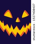 halloween night background with ... | Shutterstock .eps vector #1527408437