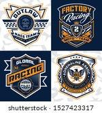 sports racing emblem crest... | Shutterstock .eps vector #1527423317