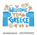 Greece Welcome Card  Concept...