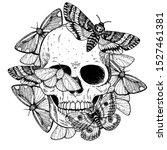 Skull And Butterflies Hand...