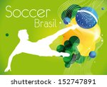 soccer poster brasil | Shutterstock .eps vector #152747891