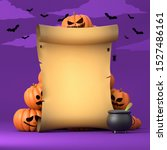 old scroll on purple background ... | Shutterstock . vector #1527486161