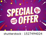 special offer banner.sale...   Shutterstock .eps vector #1527494024