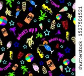 80's pattern retro funny... | Shutterstock .eps vector #1527501521