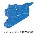 syria map | Shutterstock .eps vector #152750609