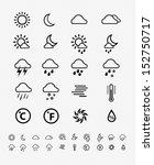 weather icons line pattern on... | Shutterstock .eps vector #152750717