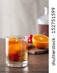 classic old fashioned cocktail... | Shutterstock . vector #152751599