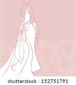 bride in beautiful wedding... | Shutterstock .eps vector #152751791